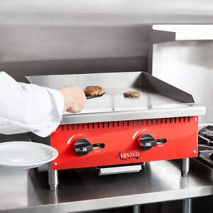 Avantco Ag24mg 24 Countertop Gas Griddle With Manual Controls 60 000 Btu