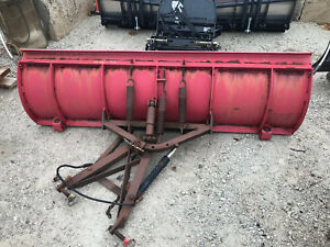 Used Western Unimount 7 5 Snow Plow For Tractor Skid Steer Hyd Angle Up135