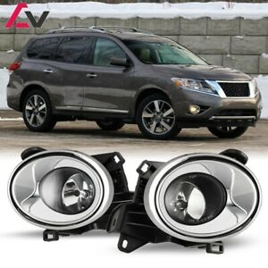 13 16 For Nissan Pathfinder Clear Lens Pair Oe Fog Light Lamp Wiring Switch Kit
