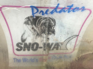 Used Sno way Predator 7 5 Full Trip Snow Plow For Parts Hyd Angle video