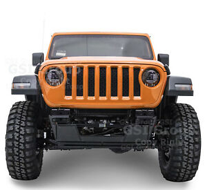 Black Front Bumper Extreme Hd Double Plate Skid Plate For 18 19 Jeep Jl Wrangler