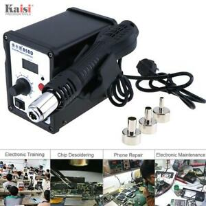 898d Rework Soldering Station Iron Welder Solder Bga Hot Air Nozzles 220v 700w