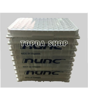 10pc Nunc 463201 96 well Plates Framed White Detachable Elisa Plate xx