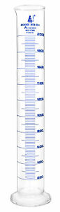 Measuring Cylinder 2000ml Class A Blue Gr Borosilicate Glass Eisco Labs