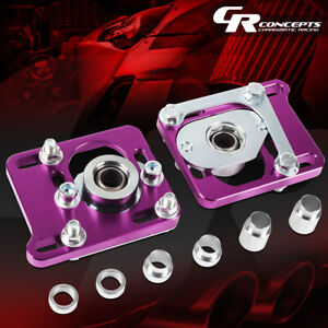 Pair 2 5 Adjustable Front Camber Caster Plates For 94 04 Ford Mustang Purple