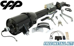 33 Inch Black Gm Style Tilt Steering Column Automatic Shift With Key