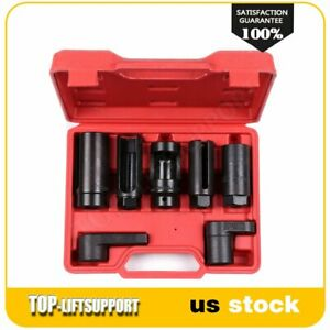 Oxygen Sensor Socket Kit Automotive Sensor Oil Pressure Sending Unit 7pc