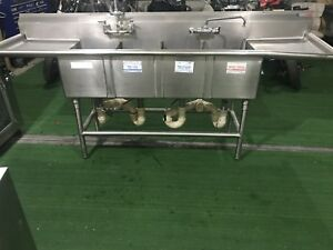 Commercial 3 compartment Stainless Steel Sink 3 Bay Commercial Sink Nsf