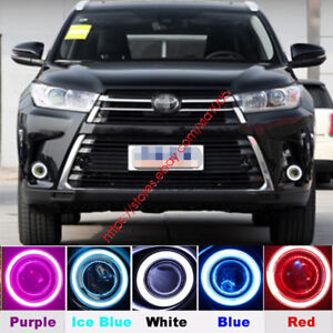 Daytime Running Lights Drl Fog Lights angel Eyes Kit For Toyota Highlander 2017