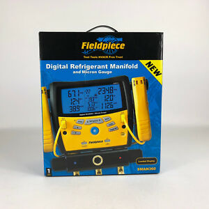 Fieldpiece Sman360 Wireless 3 port Digital Manifold W Micron Gauge