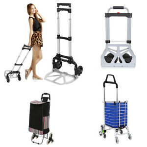 110 150 220lbs Portable Folding Hand Truck Dolly Luggage Carts Shopping Carts