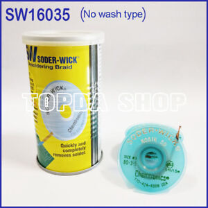10pc Itw Chemtronics Sw16035 Soder wick Tin Suction Line In Tin Can ss