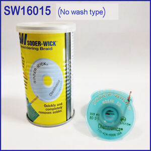 10pc Itw Chemtronics Sw16015 Soder wick Tin Suction Line In Tin Can ss