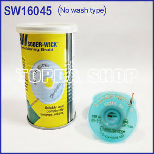 10pc Itw Chemtronics Sw16045 Soder wick Tin Suction Line In Tin Can ss