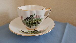 Royal Prince Bone China England Wild Fern Pattern Demitasse Tea Cup