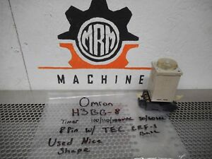 Omron H3bg 8 Timer 0 10sec 100 110 120vac 50 60hz Tec Erf 1 Base With Warranty