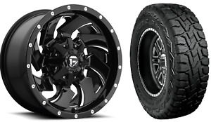 20x9 Fuel D574 Cleaver 33 Toyo Rt Wheel And Tire Package 8x6 5 Dodge Ram 2500