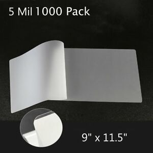 1000 Pack 5 Mil Thermal Laminating Pouches 9x11 5 Letter Size Laminator Sheets