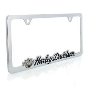 Harley Davidson Contoured Wordmark License Plate Frame Holder
