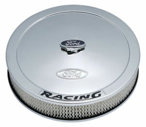 Proform 302 351 13 Ford Racing Stamped Steel Air Cleaner Kit In Chrome Finish