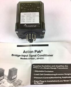 New Action Pak Instruments 4051 2601s Bridge Input Signal Conditioner
