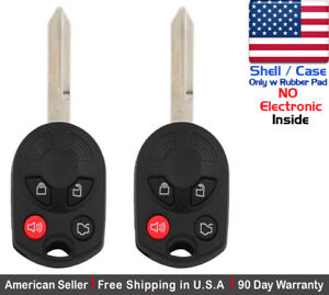 2x New Replacement Keyless Entry Remote Key Fob Case For Ford Lincoln Shell