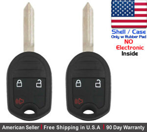 2x New Replacement Keyless Entry Remote Key Fob Case For Ford Mazda Shell