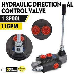 1 Spool Hydraulic Control Valve 11gpm Directional Double Acting Cylinder 40l min