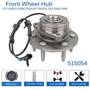 Front Wheel Hub Bearing Assembly W Abs 6 Lug For Chevy Gmc Truck 2wd 515054