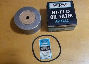 Vintage Wipac Type Be191 Oil Filter Refill Hi Flo