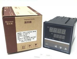 2pc Digital Pid Temperature Controller Rex c700 Thermocouple Input Ssr relay Out