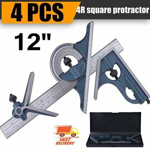 Blem Cosmetic Second Pec 12 4r 4 Pc Combination Machinist Square Protractor He