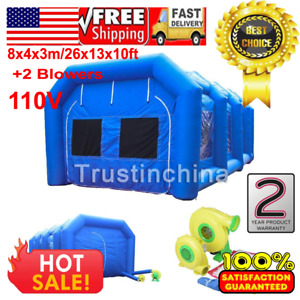 8x4x3m 26ft Inflatable Spray Booth Custom Tent Car Paint Booth Inflatable Car Us