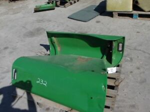 John Deere Tractor Left right Fenders bigger Flat Top Tag 232