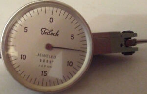 Teclock Dial Indicator With 0005 Inch Travel Jeweled Japan With Extras