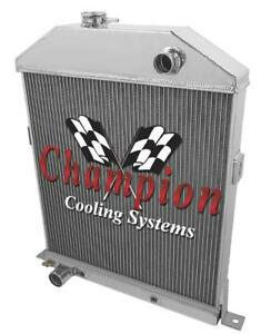4 Row Advanced Champion Radiator For 1942 1948 Ford Coupe Ford Configuration