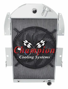 1934 1935 1936 Chevy Pickup Truck 3 Row Advanced Radiator 16 Fan V8 Conversion