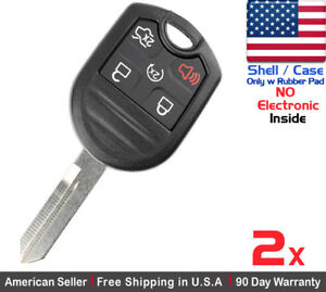 2x New Replacement Keyless Remote Key Fob Case For Ford Lincoln Mazda Shell