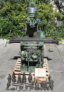 Bridgeport Milwaukee Mill Vertical Milling Machine 50 Table 2 Axis 1 Hp 230v 3