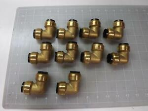 Lot Of 10 Nsf61 c 1061 Brass Push Fit Elbow Fittings T50824