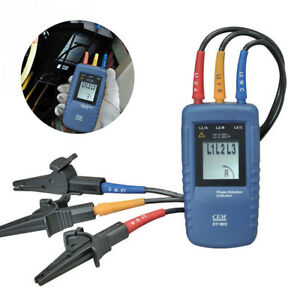 Cem Dt 901 Three Phase Rotation Indicator Tester Meter 40 960v Ac Lcd Display