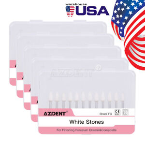 Azt Dental White Flame Polishing Stone Fg Burs Fl2 Abrasion Resin