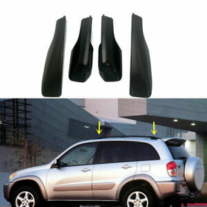 2001 2005 For Toyota Rav4 Xa20 Black Car Roof Rack Cover Rail End Shell Replace