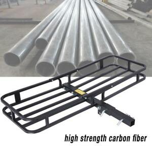 Folding 2 Hitch Mounted Rack Cargo Carrier Car Suv Truck Atv Luggage Basket Us