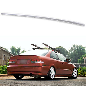 Painted Rear Trunk Lip Spoiler For Honda Civic 6th Coupe Sedan Silver Nh583