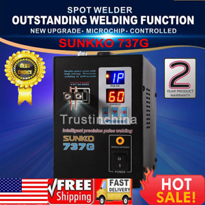 Hand Held Sunkko 737g Battery Spot Welder With Pulse Current Display