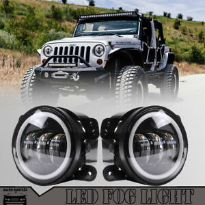 Set Of 2 Clear Lens Led Fog Light For 2004 Jeep Grand Cherokee Lh