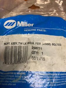 Miller Rcpt Assy Part 258711 New