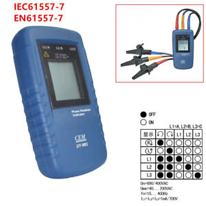 Powerful Cem Dt 901 Three 3 Phase Rotation Indicator Tester Meter Ac Catiii 600v