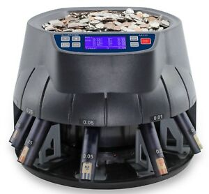 Accubanker Sort Wrap Coin Counter Sorter Roller Ab510 Us Coins Only 110v